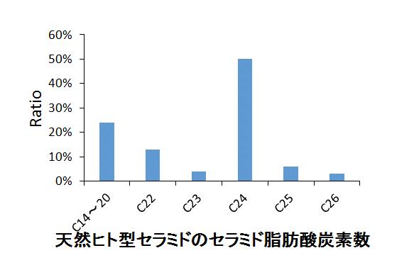 角質セラミドと天然ヒト型セラミドの長さ比較2